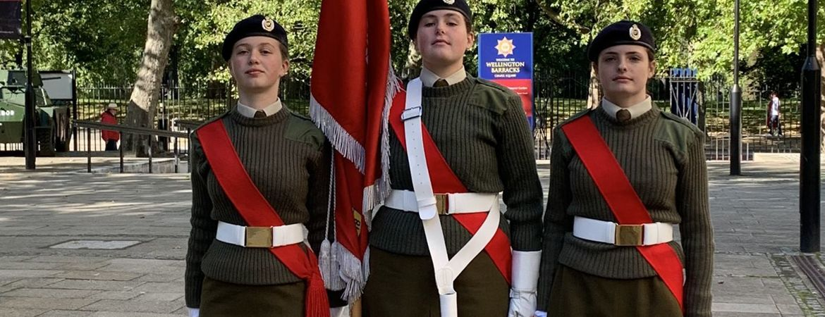 TWGGS CCF take part in War Widows Association Founders' Day Service